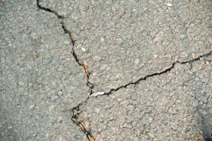 Sidewalk with cracks