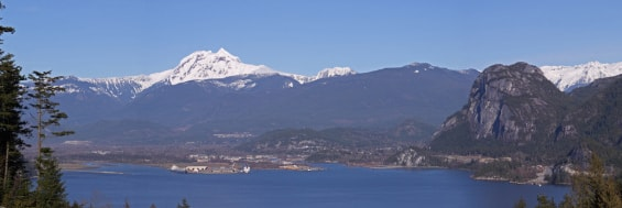 View of the Squamish are where house sound does home inspections.