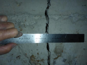 foundation crack half inch